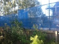 the scaffolding with debris netting, Friday 10th October 2014